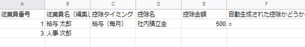 編集前CSVのスクリーンショット