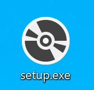 ダウンロードした「setup.exe」アイコンが表示されているスクリーンショット